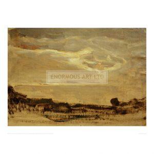 MON071 Evening Sky with Luminous Cloud, 1907