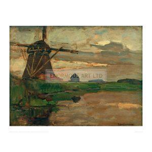 MON077 Oostzijder Mill, 1906