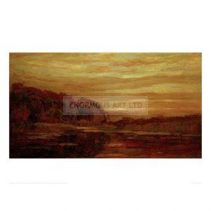 MON083 Evening landscape on the Gein, 1907