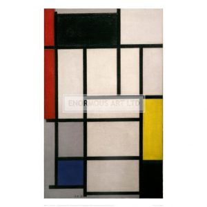 MON111 Composition with Red, Black, Yellow, Blue and Grey, 1921