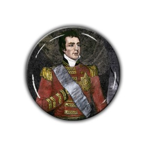 Brooch: Duke of Wellington, Woodcut