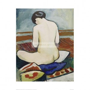 MAC069 Nude Sitting on Cushions, 1911