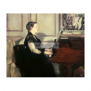 MAN013 Mme Manet at the Piano 1868