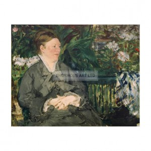 MAN015 Mme Manet in the Conservatory 1879