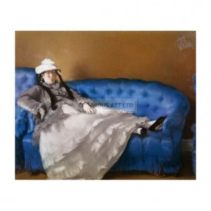 MAN014 Mme Manet on a Blue Sofa 1874