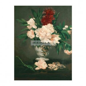 MAN025  Vase of Peonies on a Pedestal 1864