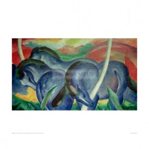 MAR040 Large Blue Horses, 1911