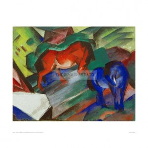 MAR051 Red and Blue Horses, 1912