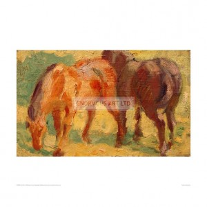 MAR066 Small Painting of Horses, 1909