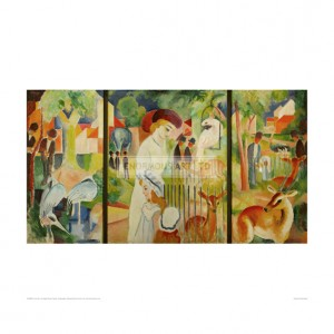 MAR087 Zoological Garden Triptych, 1912