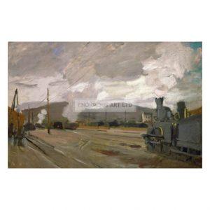MON207 Argenteuil railway Station 1872