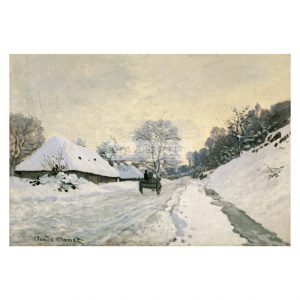 MON231 Cart in the Snow, Honfleur 1867