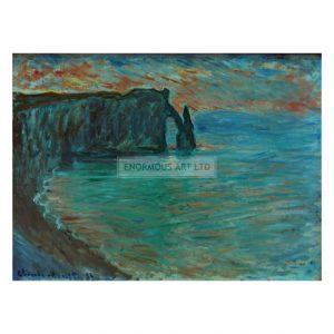 MON235 Cliffs at Aval 1884