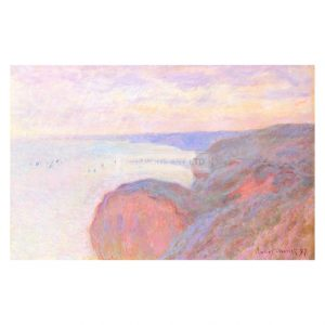 MON238 Cliffs Near Dieppe, Cloudy Sky 1897