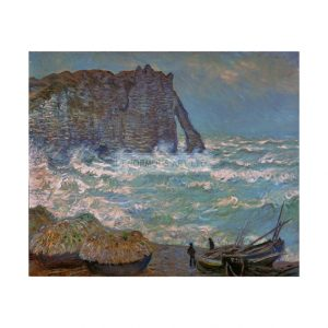 MON246 Etretat Stormy Sea 1883
