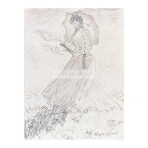MON250 Femme à L'Ombrelle 1890