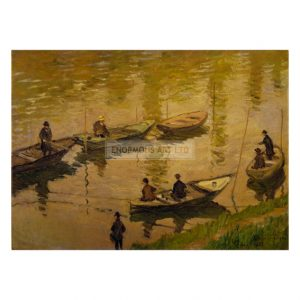 MON253 Fishermen on the Seine near Poissy 1882