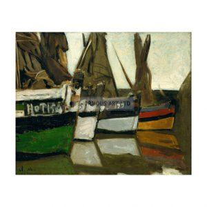 MON254 Fishing boats Honfleur 1866