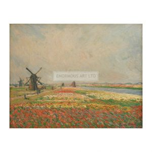MON258 Flower fields and Windmills 1886