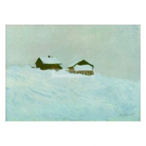 MON278 Houses in the Snow in Norway 1895