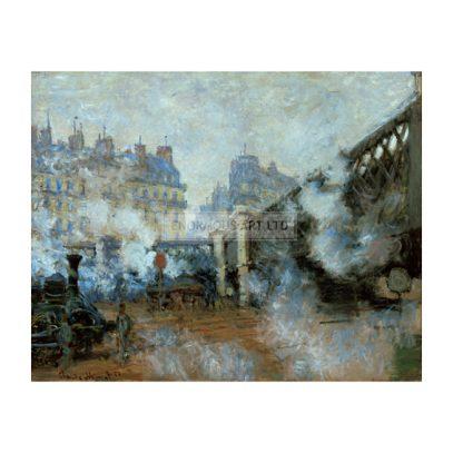 5FK-P1-D38-1877-B (297429)  'Le Pont de l'Europe - Gare Saint La- zare a Paris'  Monet, Claude 1840-1926. 'Le Pont de l'Europe - Gare Saint La- zare a Paris', 1877. Oil on canvas, 64 x 81cm.