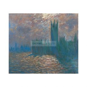 MON313 London Parliament Reflections on the Thames 1900