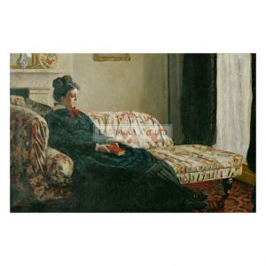 MON321 Meditation of Madame Monet au canape 1871