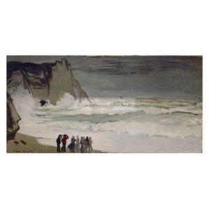 MON355 Rough Sea at Etretat 1868