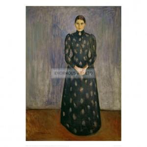 MUN017  Inger Munch, the Artist's Sister, 1889