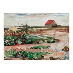 MUN021  Landscape near Travemunde, 1907