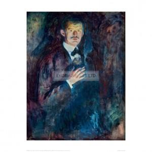 MUN037  Self-Portrait with Cigarette, 1895