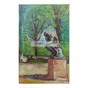 MUN049  The Thinker by Rodin, 1907