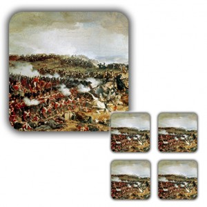 Coaster Set: Napoleon's Final Defeat, Waterloo, 1874