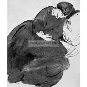 ROS012 Jane Morris Asleep on a Sofa, 1870