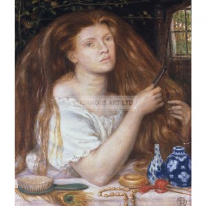 ROS029 Woman Combing Her Hair, 1865