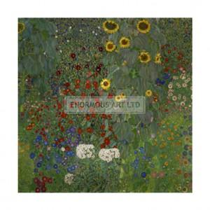 SA068 Garden with Sunflowers