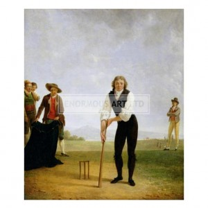 SAB002 Thomas Hope Playing Cricket, 1792