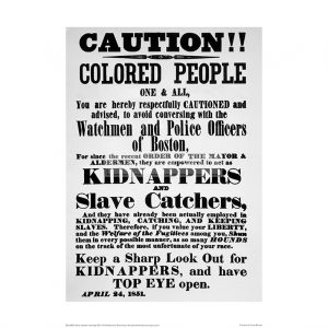 SLA024 Slave Catcher Warning, 1851