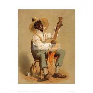 SLA037 Plantation Banjo Player, 1875