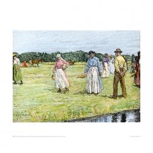 SLA113 Slaves Planting Rice in North Carolina