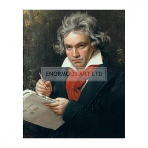 STI001 Beethoven with the Manuscript of Missa Solemnis