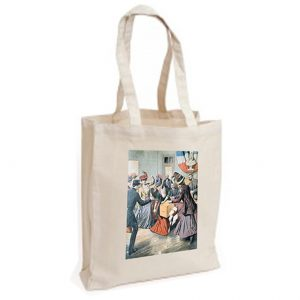 Canvas Bag: Suffragettes Upsetting Ballot Boxes