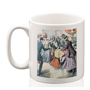 Ceramic Mug: Suffragettes Upsetting Ballot Boxes