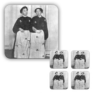 Coaster Set: Emmeline & Christabel Pankhurst Prison Dress