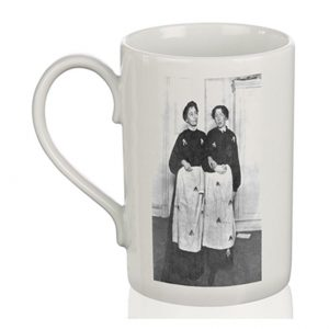 Porcelain Mug: Emmeline & Christabel Pankhurst Prison Dress