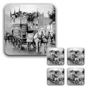 Coaster Set: Suffragette Demonstration