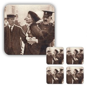Coaster Set: Pankhurst Arrest