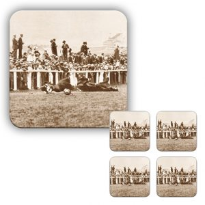 Coaster Set: Emily Davison Throwing Herself In-Front of a Horse