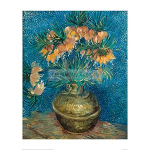 VAN016 Imperial Fritillaries in a Copper Vase, 1887