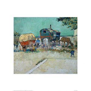 VAN033 Encampment of Gypsies with Caravans